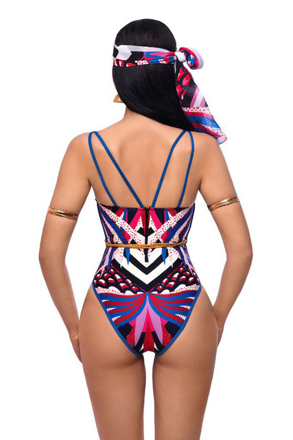 Sexy African Printed Swimwear One Piece Swimsuit For Women