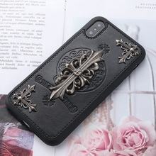 цены Black Leather Phone Cover Case for iPhone 6 6S 6Plus 6sPlus 7 7Plus 8 8plus X XS XR XsMax Luxury Apple Phone Case Plus Chaoai