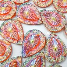 Стразы россыпью из смолы высокого качества Оранжевый Розовый AB Камни и Кристаллы Стразы для шитья аксессуары Пришивные Diy