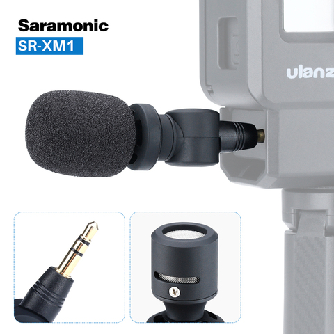 Saramonic SR-XM1 3.5mm TRS Microphone Plug and Play Mic for DSLR Cameras Camcorders Muff Windshield Gift with V2 V2 Pro Cage Islamabad