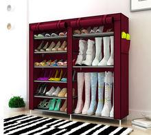 Urijk 6 Layers Shoes Storage Layer Non-woven Shoe Storage Dust Shelf Creative Combination Shoes Storage Cabinet Organizer