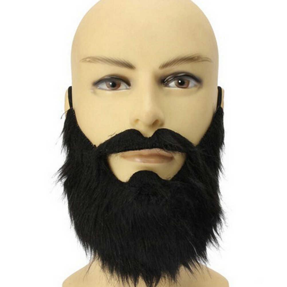 Partito Maschio Uomo Halloween Barba Barba e baffi Disguise Gioco Nero Baffi Divertente Costume