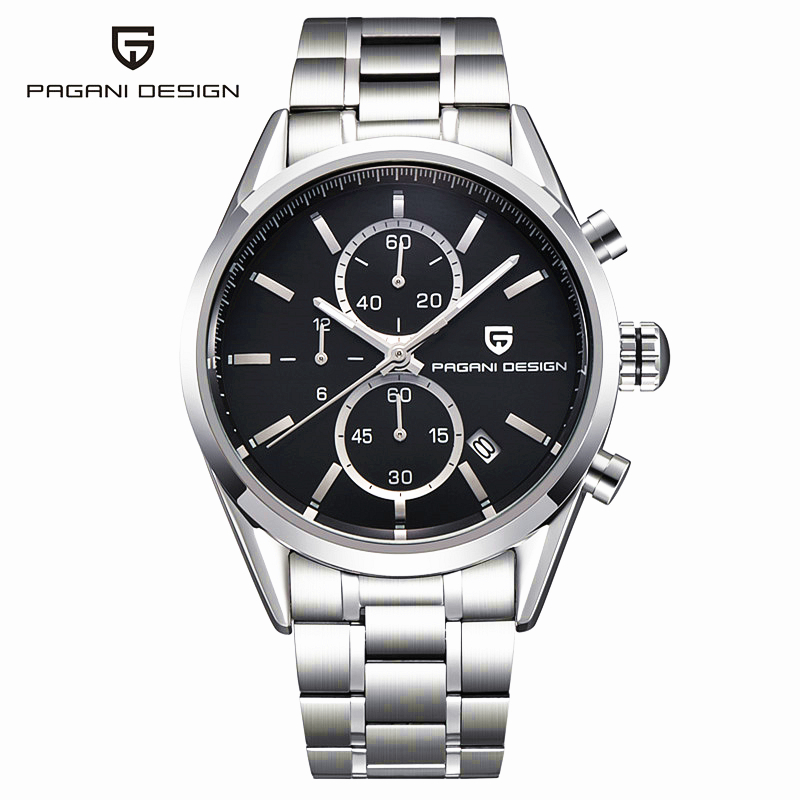 Real Men Watches Diver 30M Fashion Casual Quartz Stainless Steel Reloj Hombre 2016 Top Brand Luxury Sports Pagani Design Clock migeer fashion man stainless steel analog quartz wrist watch men sports watches reloj de hombre 2017 20 gift