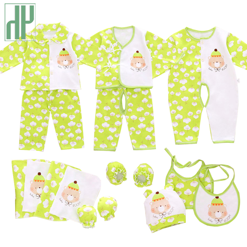 16 PCS Newborn Baby Girls Boys Clothes 2017 spring Infant Long Sleeves 100% Cotton baby set Pajamas Cartoon Printed Baby Romper sr118 baby rompers 2016 spring newborn cotton pajamas clothes bebe long sleeve hooded romper infant overall boys girls jumpsuit