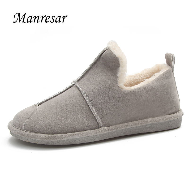 2017 Manresar New Women Autumn Winter Women Ballet Flats Warm Fur Comfort Cotton Shoes Woman Loafers Slip On Flats Fur Inside jingkubu 2017 autumn winter women ballet flats simple sewing warm fur comfort cotton shoes woman loafers slip on size 35 40 w329