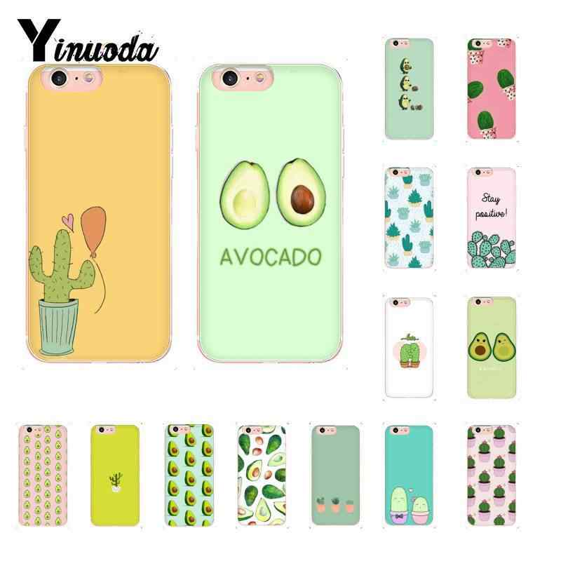 Yinuoda Leuke Avocado Lover Cactus Hart Grappige DIY Luxe Case voor iPhone 8 7 6 6S Plus X XS MAX 5 5S SE XR 10 11 11pro 11promax