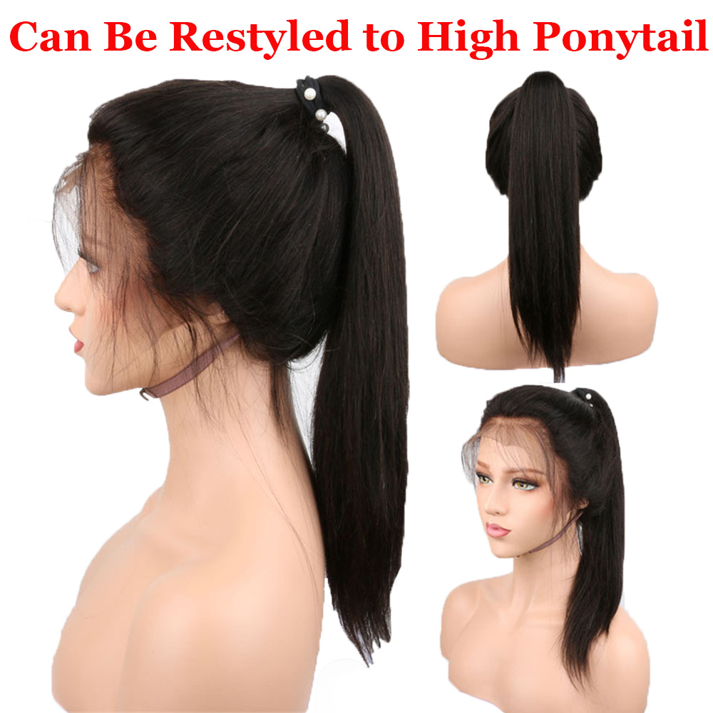 Image 5 - Straight 360 Lace Frontal Wig Human Hair Lace Front Wigs with Baby Hair Peruvian Remy Human Hair Pre Plucked Bleached Knot Beeos-in Human Hair Lace Wigs from Hair Extensions & Wigs