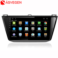 Asvegen 10.2'' Android 6.0 Quad Core Car DVD Player Audio Multimedia Stereo Player GPS Navigation For Volkswagen Tiguan L 2017