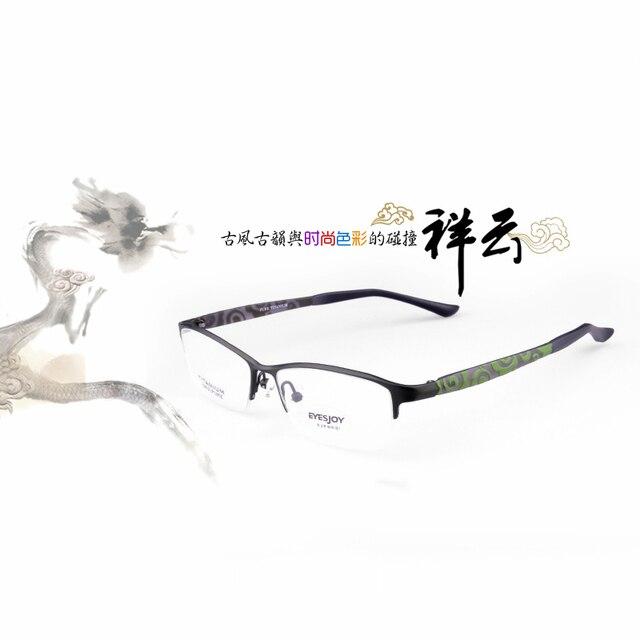 e67fe697068 Prescription eyewear women glass frames for ladies eyeglass-frames pure  titanium half rim optical glasses