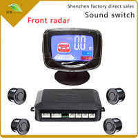 Light heart Weatherproof LCD front parking sensor system Drip alarm front car radar 4 probe 813A