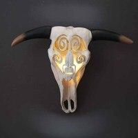 レトロ多機能壁ランプ牛ヘッド骨をぶら下げ樹脂工芸装飾人格wallornamentsステッカー装飾品