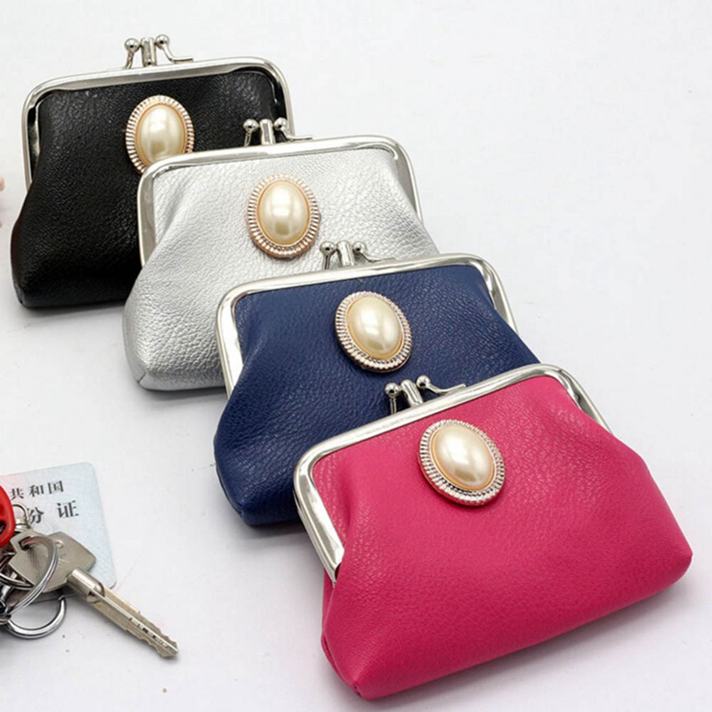 Funny Watermelon Fruit Coin Purse Buckle Vintage PU Pouch Kiss-lock Wallet for Women Girl