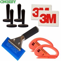 9 In 1 Wool Squeegee Snitty Cutter Magnet Holders Pro Squeegee Handle Vinyl Razor Blade Scraper