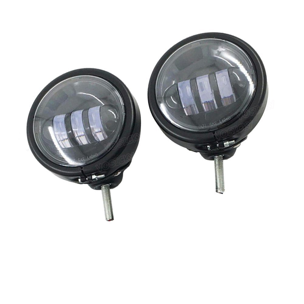 4.5 inch Housing bucket Bracket Mount Ring with pair Fog light Passing Light Lamp Motorcycle For harley Electra Glid