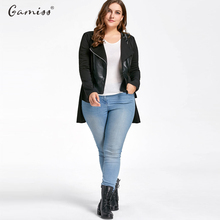 Leather Jacket Women Casual Long Sleeve Plus Size 5xl High Low PU Leather Panel Jacket