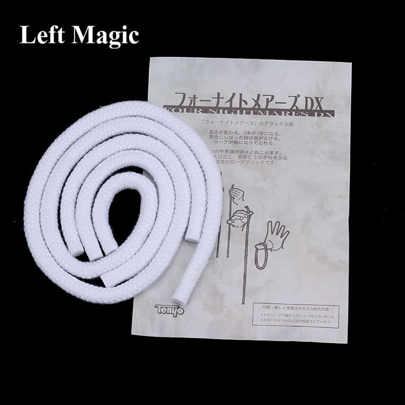 Tenyo Four Nightmare DX Rope Magic Tricks Long Short Rope Illusion Trucos De Magia Magician Stage Gimmick Accessories Mentalism