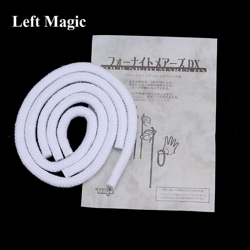 Tenyo quatre cauchemar DX corde tours de magie longue courte corde Illusion trucos de Magia magicien scène Gimmick accessoires mentalisme