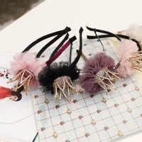 Corea di Alta Qualità Fatto A Mano Crow fiori Retrò Accessori Per Capelli Archi Dei Capelli Del Fiore Corona Della Forcella Fasce Per Le ragazze