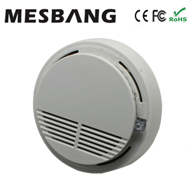 3 piece/ lot wireless smoke sensor 433MHZ can connect to GSM alarm system  or independent alone using free shipping language independent approach to develop information retrieval system