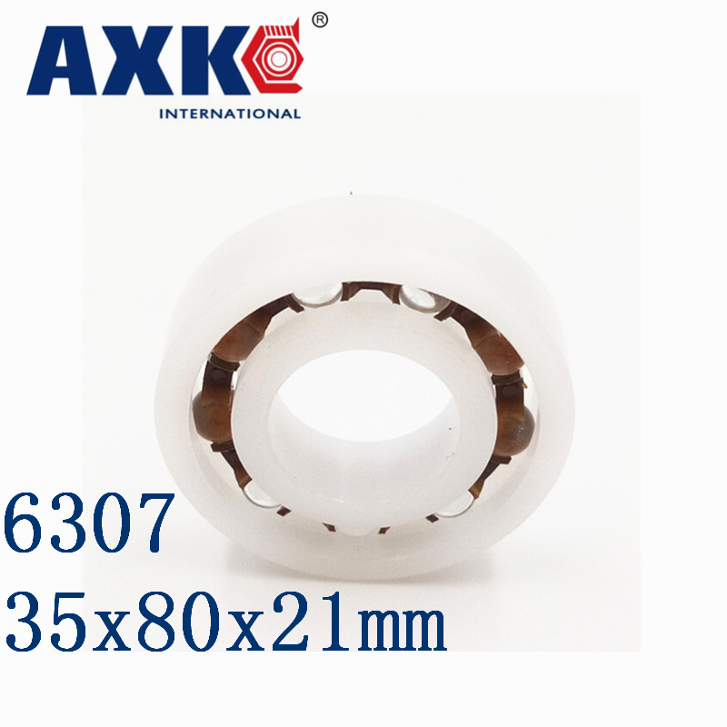 Axk 6307 Pom (10pcs) Plastic Ball Bearings 35x80x21mm Glass Balls 35mm/80mm/21mm 6310 pom 10pcs plastic ball bearings 50x110x27mm glass balls 50mm 110mm 27mm