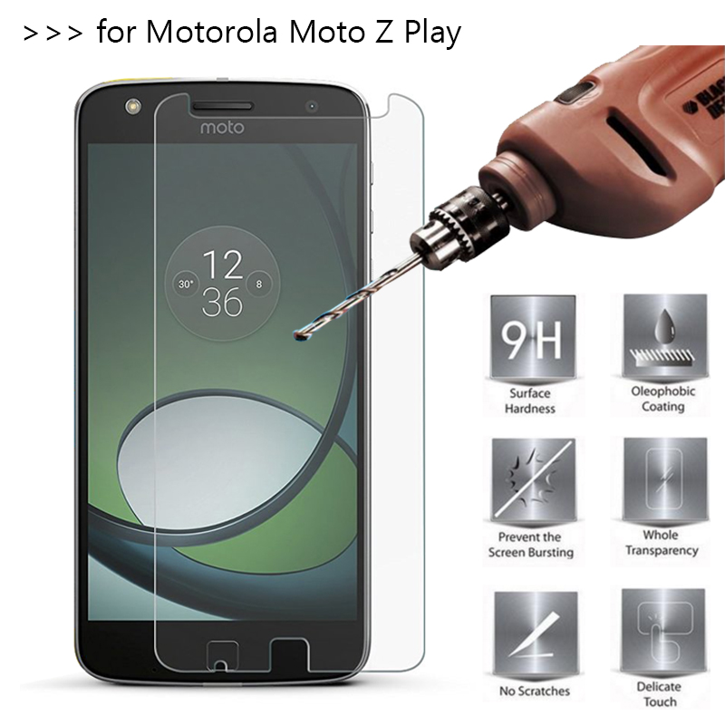 2.5D 0.26mm 9H Premium Tempered Glass For Motorola MOTO Z Play <font><b>XT1635</b></font> 5.5 <font><b>Screen</b></font> Protector protective film For MOTO Z Play Glass image