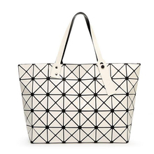 2016  Fashion Women Top-Handle Pearl Bag Diamond Lattice Tote Geometry Quilted Handbag Geometric Mosaic Shoulder Bag sac a main