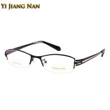 Yi Jiang Nan Senhores Marca Super Qualidade Semi Aro Óculos De Titânio Puro  Vidros Ópticos dos homens Do Estilo Do Esporte para . 79b382e5cc