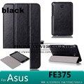 Imán case cubierta del cuero del soporte para asus fonepad 7 fe375cg fe375cxg fe7530cxg fe375 k019 tablet case + screen protector + stylus