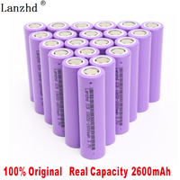 8 40Pcs 18650 Battery 2600mAh li ion 3.7V 18650 5C discharge Power battery for E cigarettes, electric drills for electric cars