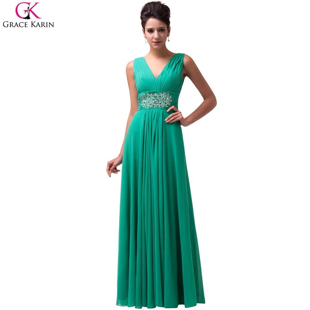 Grace Karin Emerald Green Formal Evening Dresses Long 2017 Chiffon ...