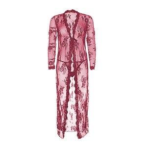 Image 2 - Varsbaby soutien gorge, culotte, robe + tanga, 4 pièces pour femmes, fil transparent sexy, tendance ensemble de sous vêtements