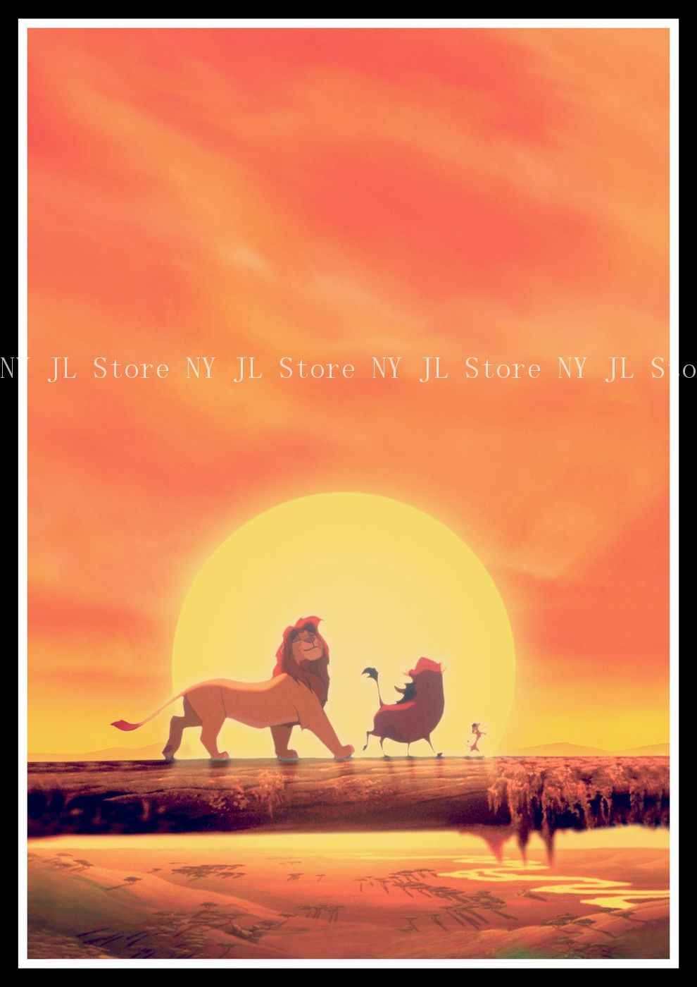 The Lion King Retro Poster Art Wall Home Decoration Movie Poster Wall Stickers 4230 Cm