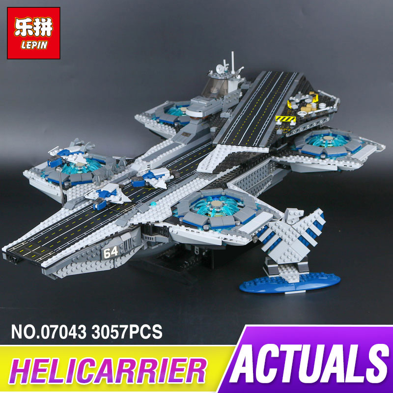 Lepin 07043 Super Heroes The Shield Helicarrier Model Building Kits Blocks Bricks Funny Toys Compatible 76042 new lepin 22001 pirate ship imperial warships model building kits block briks toys gift 1717pcs