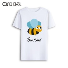 Bee Kind customize print tshirt men Oversized short sleeves top large size modal O-neck regular casual solid color tee