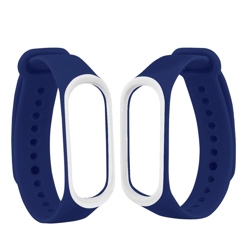 Image 4 - Смарт браслет аксессуары для Xiaomi mi 3 4 ремешок замена Браслет Двойной Цветной силиконовый браслет для mi Band 4 ремешок-in Умные аксессуары from Бытовая электроника