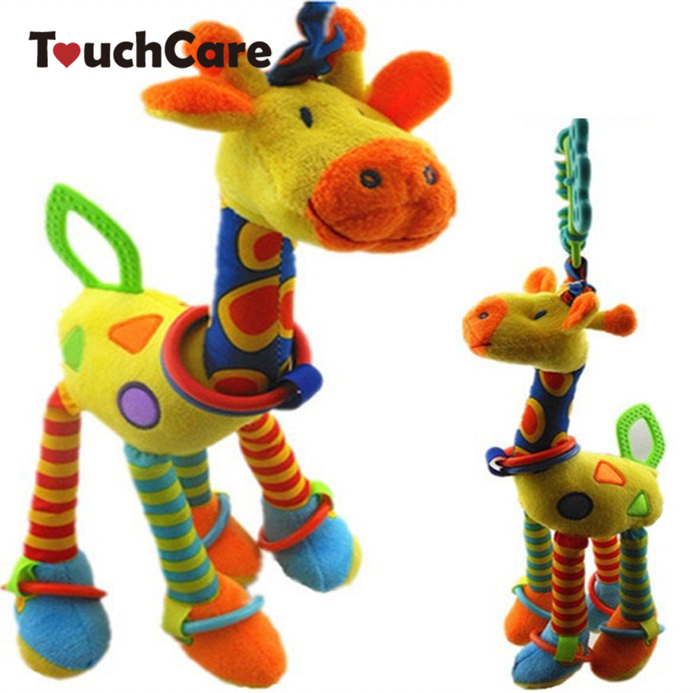 Clearance New Design Giraffe Baby Rattles Infant Car Hanging Bed Hanging Bed Bell Rattles Toy Children Toys