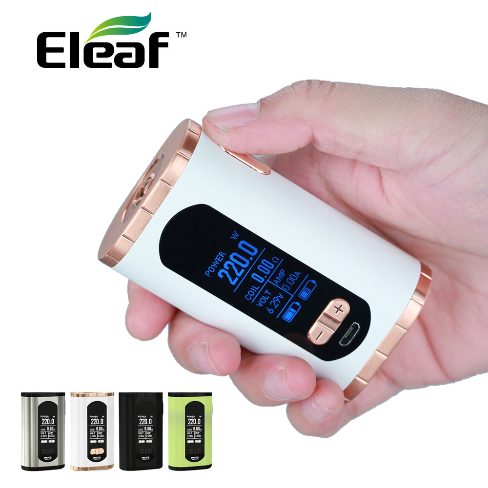 Original Eleaf Invoke 220W TC Box MOD 220W Maximum Output with 1.3-inch Huge Display No 18650 Battery Huge Power E-cig Vape ModOriginal Eleaf Invoke 220W TC Box MOD 220W Maximum Output with 1.3-inch Huge Display No 18650 Battery Huge Power E-cig Vape Mod