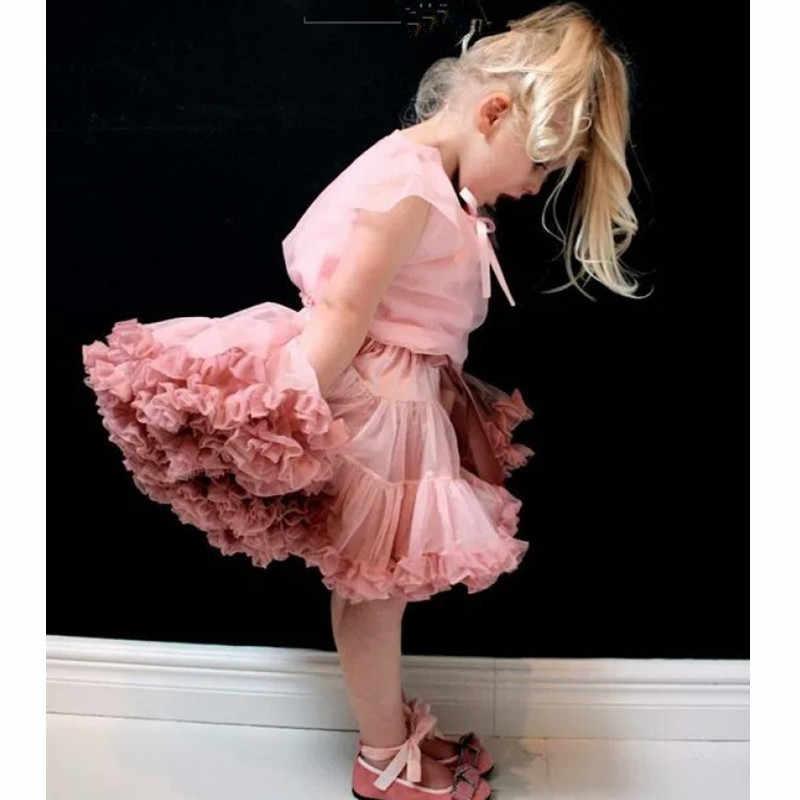 """יפה בייבי בנות טול טוטו חצאיות נסיכת בלט ריקוד Pettiskirts ילדים מסיבת תחתונית חצאית עבור 1-10 י""""ש Chlidren חצאיות טוטו קריש"""