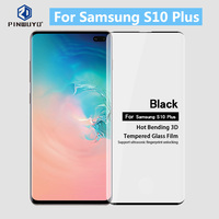 For Samsung S10+ Original PINWUYO 3D Curved Full Cover Tempered Glass Screen Protector Film For Samsung Galaxy S10 Plus