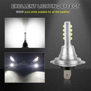 Image 4 - 2 pçs h7 lâmpada led super brilhante 12 3535smd luzes de nevoeiro do carro 12v 24v 6000k branco dia condução running lâmpada led auto h7 lâmpada