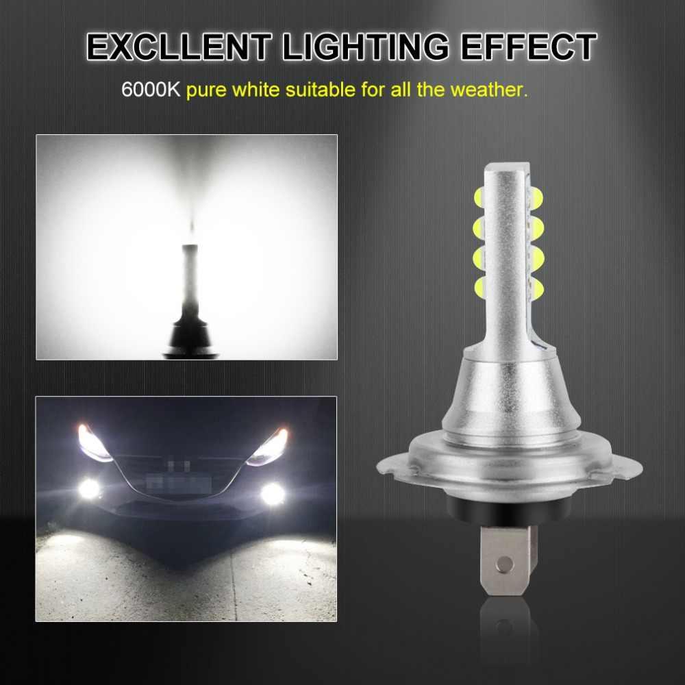 2 uds H7 bombilla LED Super brillante 12 3535SMD luces antiniebla del coche 12V 24V 6000K blanco conducción día Running lámpara Auto Led H7 bombilla