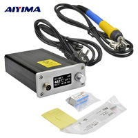 AIYIMA OLED 110V 220V T12 Digital Soldering Station electronica soldering iron stand solder solda soldeerbout EU plug T12 K