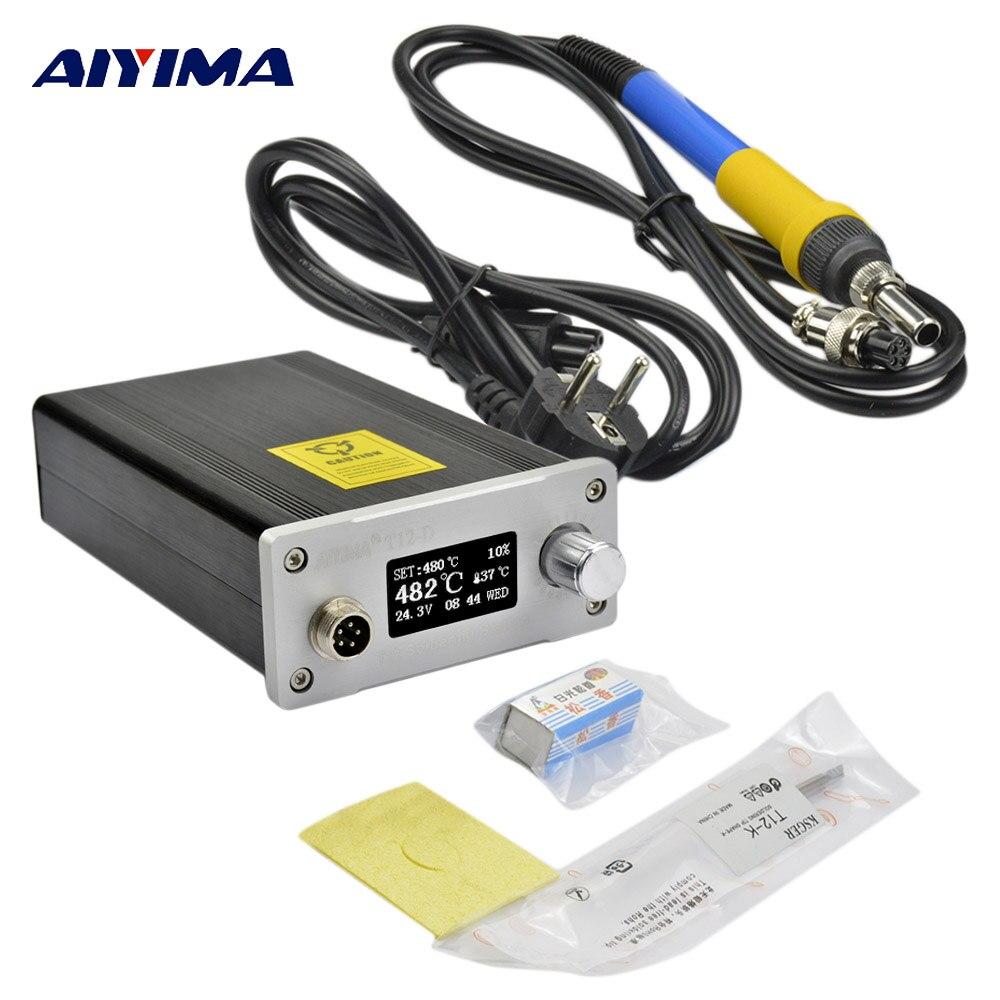 Intelligent OLED 110V 220V T12 Digital Soldering Station electronica soldering iron stand solder solda soldeerbout EU plug T12-K