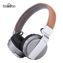 Buy online Bassbo Bluetooth Headphone BT008 Stereo Wireless Foldable Metal Headset Portable Earphone Support TF Slot AUX MP3 Player