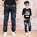 New Year's gift, jeans boy for  children wear fashionable style and high quality kids jeans,  boy kids ripped jeans