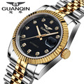 2016 Top Luxury Brand GUANQIN Men Watches Waterproof Automatic Mechanical Stainless Steel Strap Relogio Masculino Fashion Casual