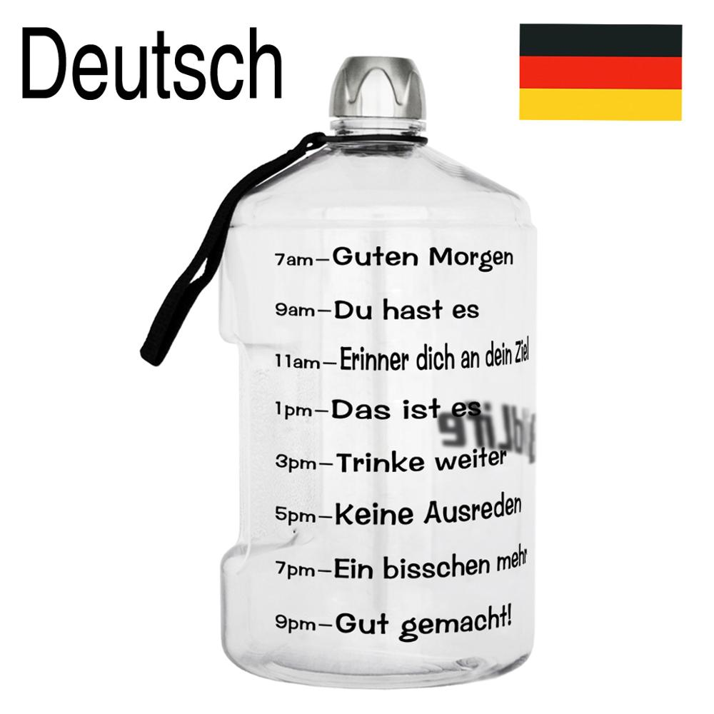 German Version Buildlife 1 Gallon Water Bottle With Time