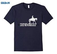 GILDAN 2018 Funny Cowboy Shirt Showmanship Horse Riding Lingo Gift