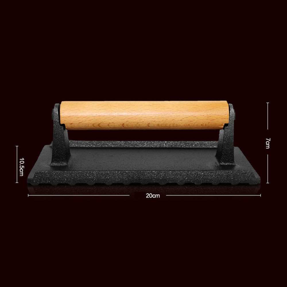 Hot Sell Cast Iron Uncoated Grill Press with Scold proof Wood Handle BBQ Accessories Pressure Plate C&ing Picnic Equipment-in BBQ from Home \u0026 Garden on ... : wooden pressure plate - pezcame.com