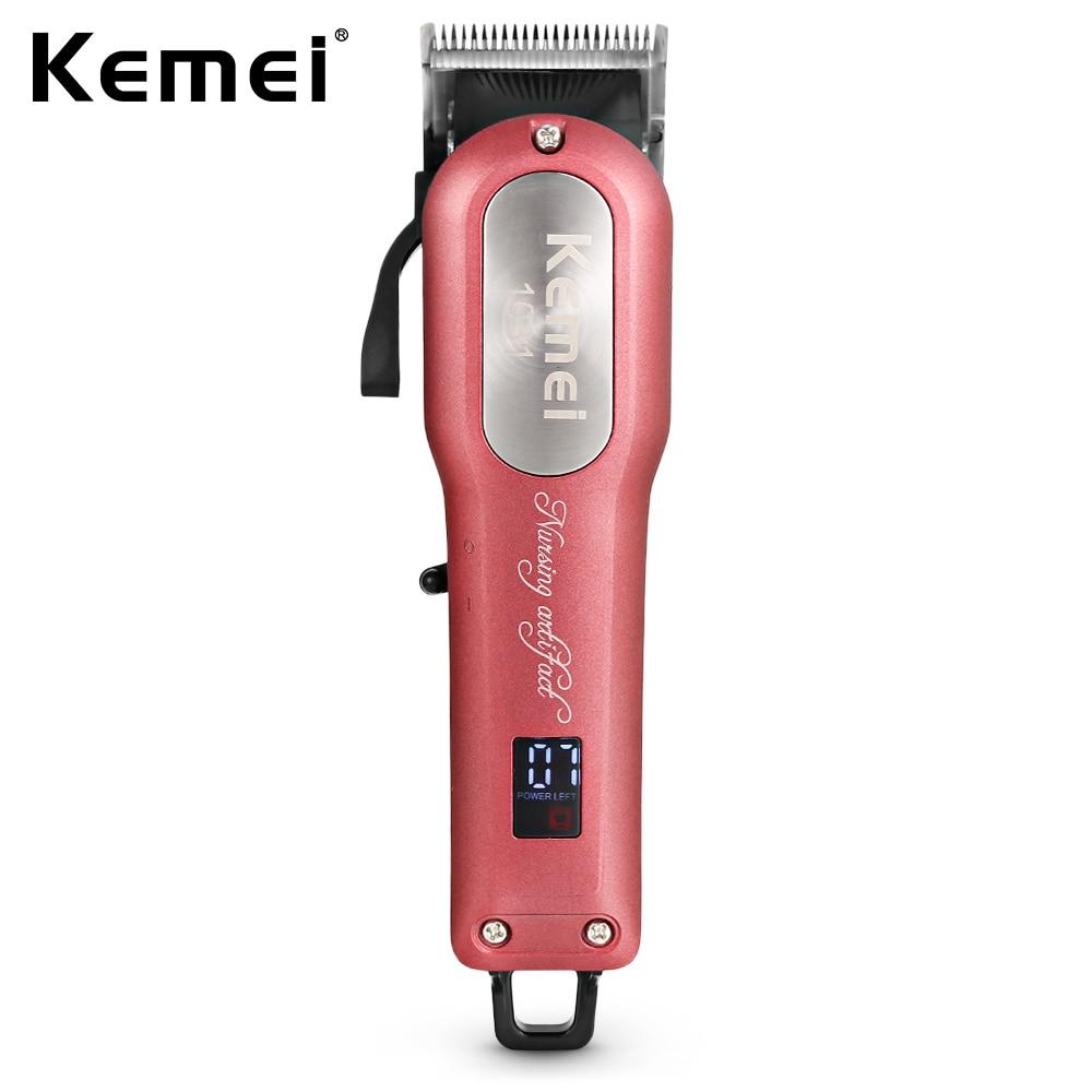 Kemei KM-1031 Cordless Hair Clipper Hair Beard Trimmer Powerful Hair Shaving Machine Hair Cutting Razor Barber With 4 Guide Comb